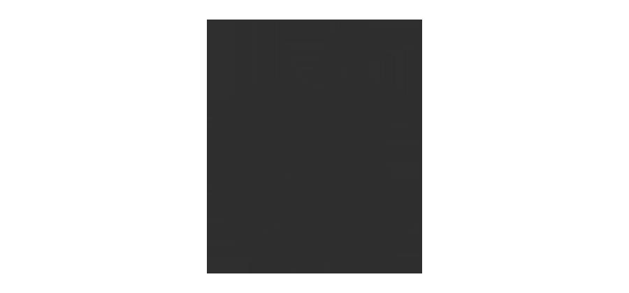 Logo de la marque Apple, la pomme coloré en noir sur un arrière plan blanc