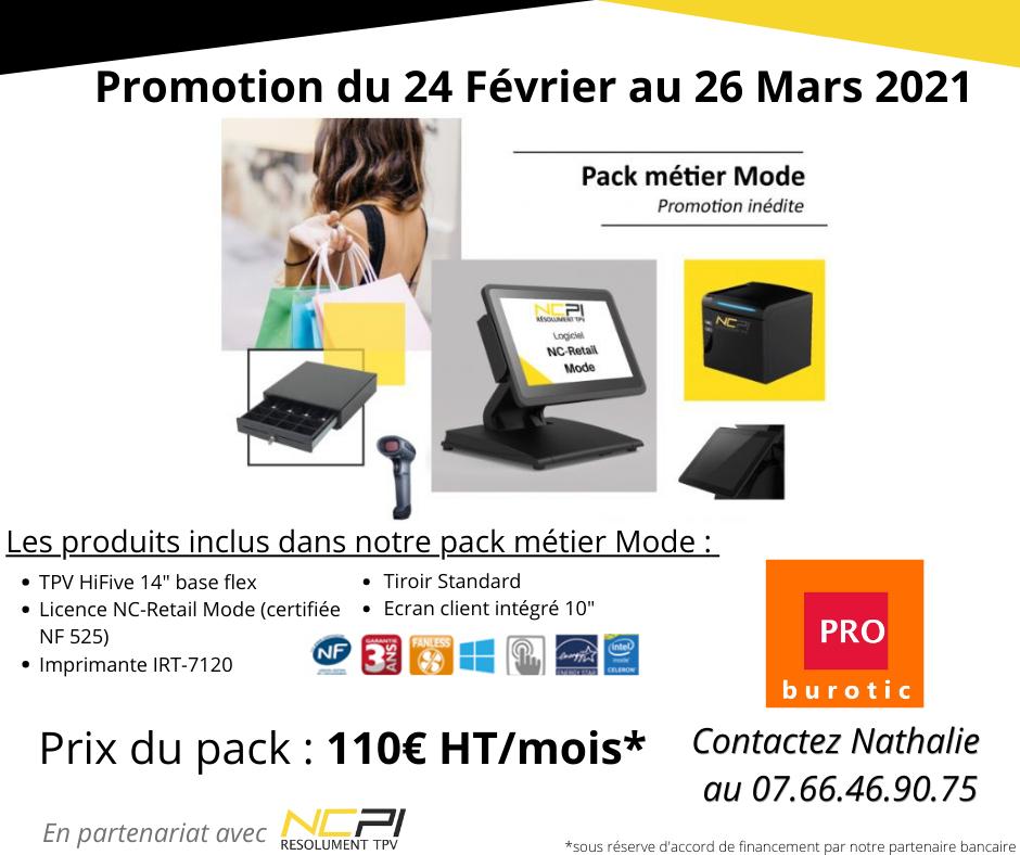 Promotion sur caisse enregistreuse pour métier mode